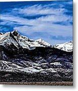 Blanca Mountains Near Fort Garland Colorado Metal Print