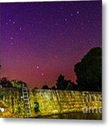 Blanco River Dam At Night - Texas Hill Country Blanco Texas Metal Print