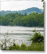 Blanket Of Fog On Clinch River  Metal Print