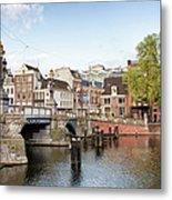 Blauwbrug In Amsterdam Metal Print