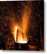 Blazing Bonfire Metal Print
