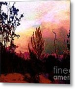 Blazing Metal Print by Doris Wood