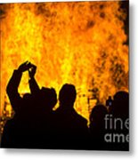 Blazing Fire Metal Print