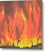 Blazing Fire Metal Print