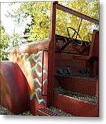 Blazing Red Fire Truck Metal Print