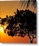 Blazing Red Sea Sunset Metal Print