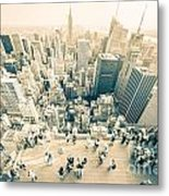 Bleached Manhattan Metal Print