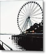 Bleached Waterfront Metal Print