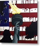 Bleeding For Freedom Metal Print