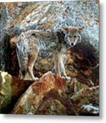 Blending In Nature Metal Print