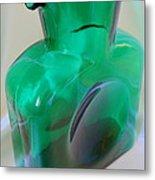 Blenko Green Metal Print