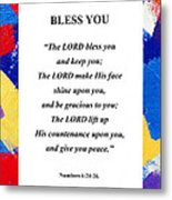 Bless You Poster Metal Print
