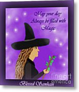 Blessed Samhain Witch Metal Print