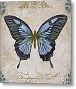 Bleu Papillon-a Metal Print