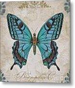 Bleu Papillon-c Metal Print
