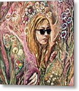 Blind Beauty Metal Print