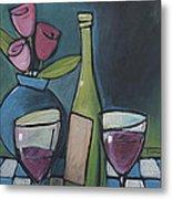 Blind Date With Wine Metal Print