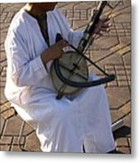 Blind Man Place Djemna Al Fna Marrakesh Morocco Metal Print by Ralph A  Ledergerber-Photography