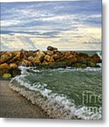 Blind Pass Storm Rocks - Captiva  Metal Print
