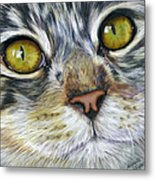 Stunning Cat Painting Metal Print