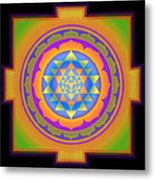 Bliss Yantra Metal Print