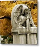 Blissful Angel In Autumn Metal Print