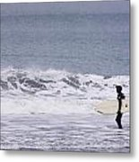 Blizzard Surfing Metal Print by Tim Grams