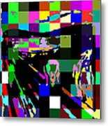 Blocked Scream Metal Print