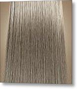 Blonde Hair Perfect Straight Metal Print