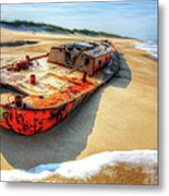 Blood And Guts II - Outer Banks Metal Print