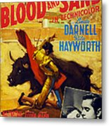 Blood And Sand, Us Poster, From Left Metal Print