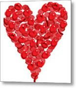Blood Cells Heart Metal Print