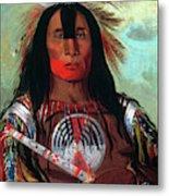 Blood Head Chief, 1832 Metal Print