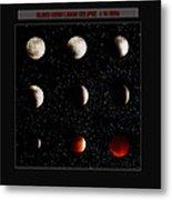 Blood Moon Lunar Eclipse 2014 Color Metal Print
