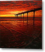Blood Red Dawn Metal Print