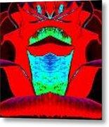 Blood Red Metal Print