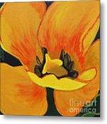 Bloomed Yellow Tulip Metal Print