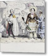 Bloomer Cartoon, C1851 Metal Print