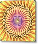 Blooming Seasons Kaleidoscope Metal Print by Derek Gedney