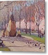 Blooms On Comm Ave Metal Print
