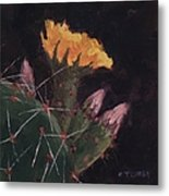 Blossom And Needles - Art By Bill Tomsa Metal Print
