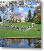 Blossom-framed House Metal Print