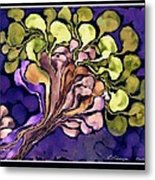 Blossom Of Spring    Purple Metal Print