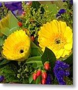 Blossom Yellow Gerbera Metal Print
