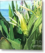Blossoming Butterfly Ginger Metal Print