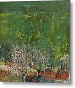 Blossoming Tree In The Garden Metal Print