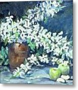 Blossoms And Apples Metal Print