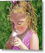 Blow On It Metal Print