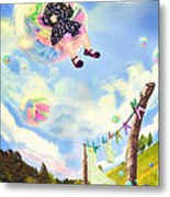 Blowing Bubbles Metal Print by Fairy Tales Imagery Inc