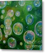 Blowing Bubbles Metal Print
